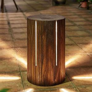 Lampe à poser LED d'extérieur Ivar en pin