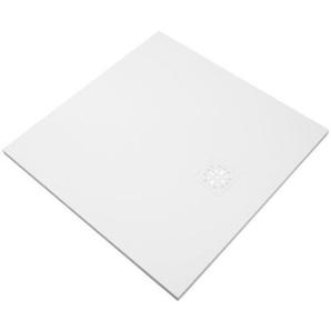 Saniclass Relievo Receveur de douche 100x100cm Fine Stone antibactérienne et antidérapant blanc mat avec siphon peu profond 90mm 9230