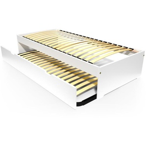 Lit gigogne Malo avec tiroir lit bois 90x190 Blanc