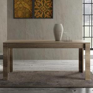 Table à manger contemporaine couleur chêne ROMANE