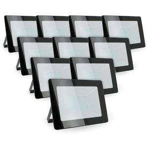 Lot de 10 projecteurs 50W IP65 extérieur   Blanc neutre 4000K - ECLAIRAGE DESIGN