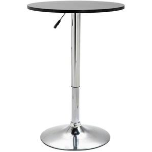 Hommoo Table de bar Noir 60 cm MDF