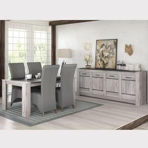 Salle à manger moderne couleur chêne gris ANGUS