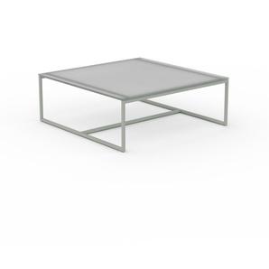 Table basse - verre clair dépoli, design, bout de canapé sophistiqué - 81 x 31 x 81 cm, personnalisable