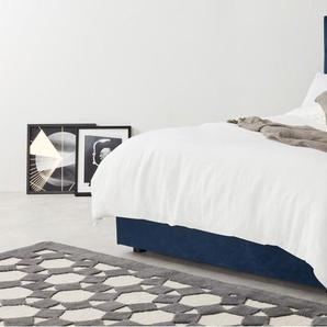 Skye, lit coffre king size (160 x 200) avec sommier, velours bleu roi