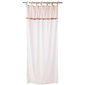 Rideau à nouettes en coton bicolore à lunité 110x250