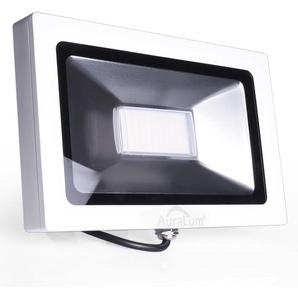 Auralum 50W Projecteur LED Ultraléger Spot LED IP65 3700LM Lumière Extérieur et Intérieur Blanc Neutre 4000-4500K avec Coque Blanche