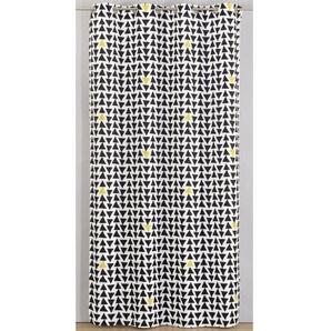 Rideau imprimé Triangle 135x260 cm noir