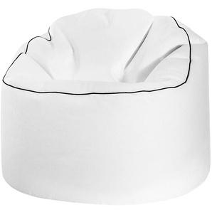 Pouf Tube Cosy XL blanc - SITTING POINT