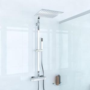 Saniclass Brauer Nurnberg Colonne de douche avec pomette de douche 30cm chrome 5615B
