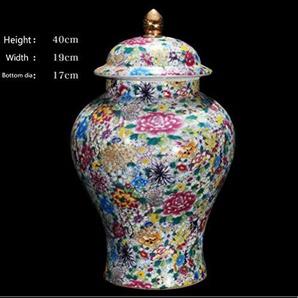 ETHAN Jingdezhen Antique Royal Blossoms Grand Vase De Plancher en Céramique pour Hôtel Salle À Manger Decor.F