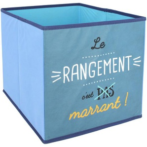 Cube de rangement 27L bleu le rangement cest marrant