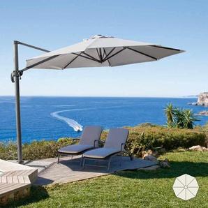 Parasol de jardin de 3 mètres avec bras décentralisée aluminium PARADISE - ELIOS PARASOLS