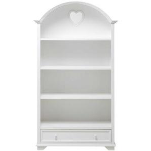 Bibliothèque 1 tiroir blanche Valentine