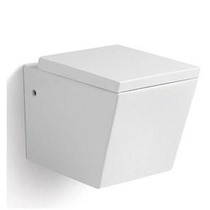 WC Suspendu Rectangulaire - Avec Abattant - C�ramique Blanc - 56x36 cm - Connect - RUE DU BAIN