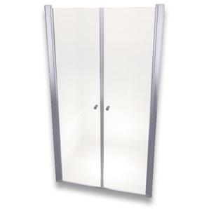 Porte de douche 195 cm largeur réglable 124-128 cm Transparent - MONMOBILIERDESIGN