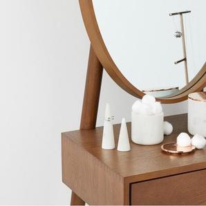 Iris, porte-bijoux, marbre blanc et cuivre