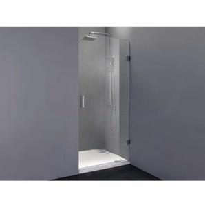 Saniclass Create Porte de douche 70x199cm sans profilé ni penture avec verre de sécurité 8mm transparente anticalcaire 4028
