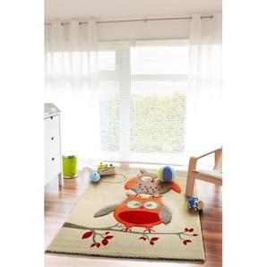 Tapis enfant Eule Gris 80x150 cm - Tapis pour chambre denfants/bébé