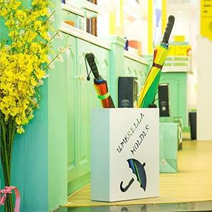 YYHSND Seau À Parapluie Créatif Européen Porte-parapluie De Stockage En Fer Forgé Ménage Étage Simple Porte-parapluie Pliant Porte-parapluie (Couleur : Ivory white)