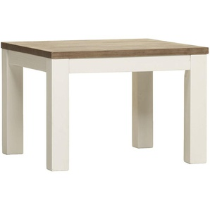 Table dappoint contemporaine en bois massif blanc EMELINE
