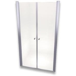 Porte de douche 195 cm largeur réglable 108-112 cm Transparent - MONMOBILIERDESIGN