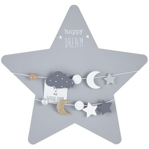 Pêle-mêle étoile gris et argenté 50x48