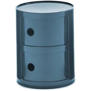 Kartell Componibili 2 - Conteneur - bleu/brillant/H 40cm/ Ø 32cm/Nouvelle couleur!