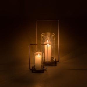 Lanterne en métal gris anthracite H25xD17cm