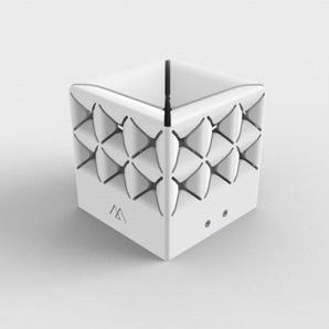 POPUP-Lanterne dextérieur LED solaire Aluminium H10.5cm Blanc Maiori