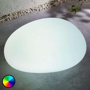 Lampe solaire LED RVB Floriana, pierre, 32cm