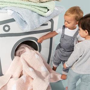 Lytte Tapis lavables pour enfants Inka Triangles Beige 150x150 cm - Tapis pour chambre denfants/bébé