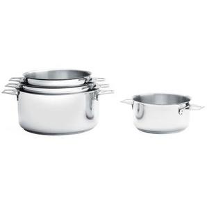 Lot de 4 casseroles faitouts 14, 16, 18 et 20 cm et queue amovible
