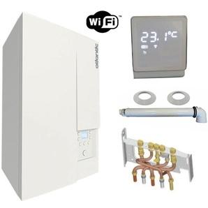 Chaudière Gaz Condensation Naema Naia 2 Micro 25 kW Complète Gaz naturel (Avec Ventouse + douilles + dosseret) avec Thermostat Connecté - ATLANTIC
