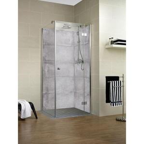 Lot de 2 panneaux muraux 100 x 210 cm, revêtement pour douche et salle de bains, DécoDesign DÉCOR, Schulte, Gris antico