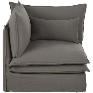 Angle de canapé en lin épais gris Pompei