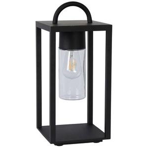 GLIMMER-Lanterne dextérieur Métal & Verre H45,5cm Noir Lucide - designé par Lucide