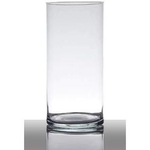 INNA-Glas Lot 2 x Vase à Poser au Sol en Verre Sansa, Cylindre - Rond, Transparent, 30cm, Ø12cm - Grand Vase Transparent - Vase à Fleurs