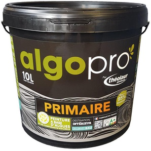 Sous-couche naturelle bio-sourcée à base dhuile végétale et dalgues pour murs, plafonds et boiseries : Algo Pro primaire - Blanc - 10L