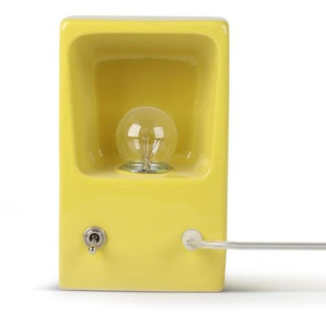 SINGLE TEMPLATE-Lampe à poser ou applique Céramique H19,5cm jaune émaillé câble transparent Piet Hein Eek