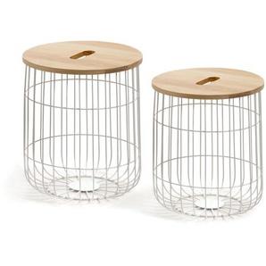 Kave Home - Set de 2 tables d'appoint Maelle Ø 42 cm / Ø 38 cm