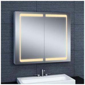 Armoire de toilette aluminium - Modèle 80 - 70 cm x 80 cm (HxL) - PRADEL