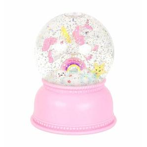 UNICORN-Boule lumineuse Licorne peinte à la main H14.5cm blanc et rose A Little Lovely Company