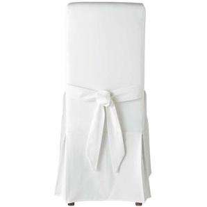 Housse de chaise avec nud en coton ivoire Margaux