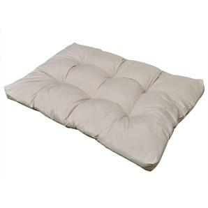 Coussin de siège rembourré Blanc sable 120 x 80 x 10 cm
