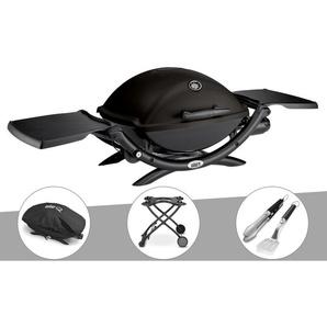 Barbecue à gaz Weber Q 2200 + Housse + Chariot + Kit Ustensile