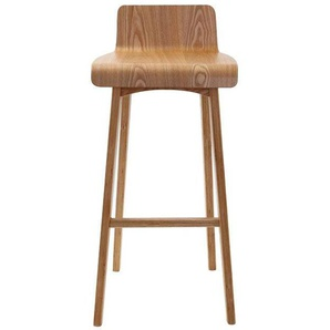 Chaise de bar scandinave 75 cm BALTIK - Naturel - MILIBOO