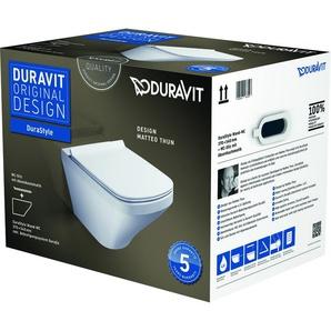 Pack WC suspendu Duravit DuraStyle 455209 - cuvette + abattant frein de chute, système Durafix inclus