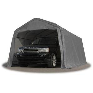 Tente-garage carport 3,3 x 4,8m délevage abri agricole tente de stockage bâche 550g/m² armature solide gris - INTENT24.FR