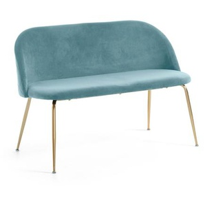 Kave Home - Banc Ivonne velours turquoise